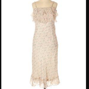 NWT Monkey Wear Sleeveless Floral Silk Dress 12